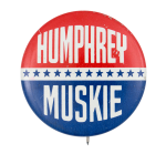 Humphrey Muskie Stars Political Button Museum