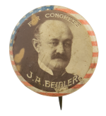 J.A. Beidler For Congress Political Button Museum