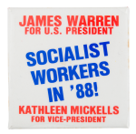 James Warren for U.S. President Political Button Museum