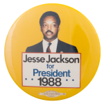 Jesse Jackson For President 1988 Political Button Museum
