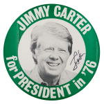 Jimmy Carter for President in '76 Political Button Museum