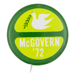 McGovern '72 Peace and Ecology Political Button Museum
