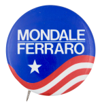 Mondale Ferraro Star Political Button Museum