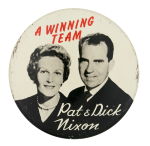 Pat and Dick Nixon Political Button Museum