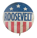Roosevelt Stars And Stripes Political Button Museum