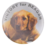 Victory for Reagan Puppy Political Button Museum