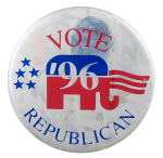 Vote Republican '96 Political Button Museum