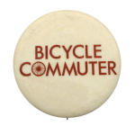 Bicycle Commuter  Social Lubricators Button Museum