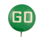 Green Go Social Lubricators Button Museum