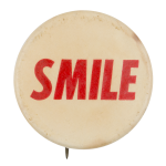 Smile Red Social Lubricators Button Museum