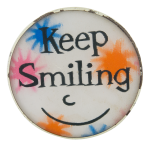 Keep Smiling Lenticular Smileys Button Museum