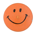Orange Smiley 2 Smileys Button Museum