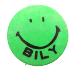 Bob Bily Smiley Green Smileys Button Museum