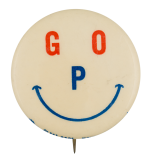 GOP Red and Blue Smiley Smileys Button Museum