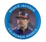 Reggie Jackson California Angels Sports Button Museum