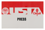 USTA Circuit Press red Event Button Museum