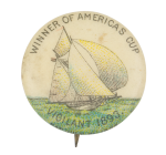 Winner of Americas Cup Sports Button Museum
