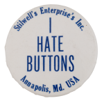 I Hate Buttons Self Referential Button Museum