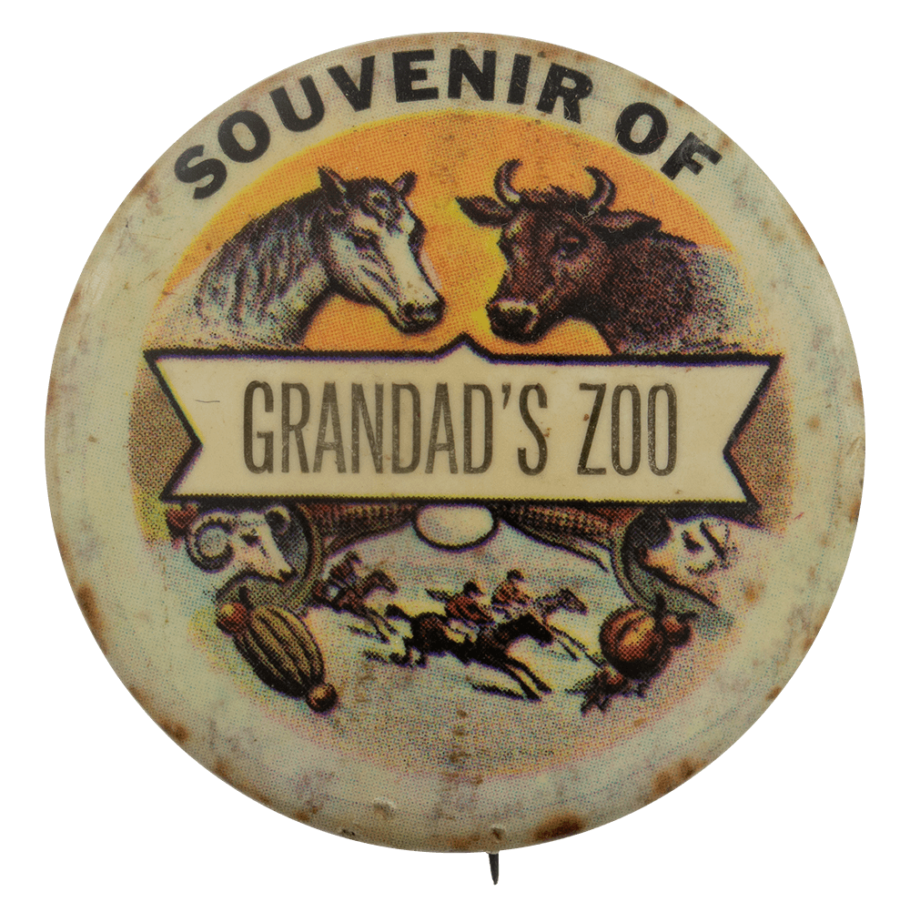 Grandad's Zoo Advertising Busy Beaver Button Museum