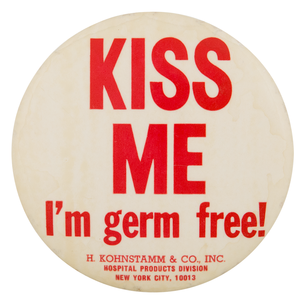 I'm Germ Free Advertising Button Museum