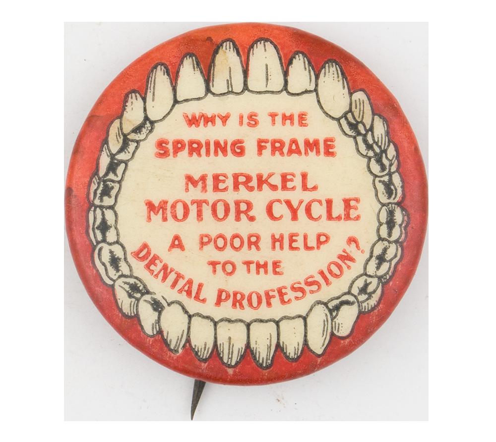Merkel Motor Cycle Advertising Button Museum