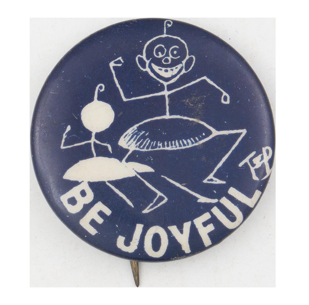 Be Joyful Dancer Advertising Button Museum