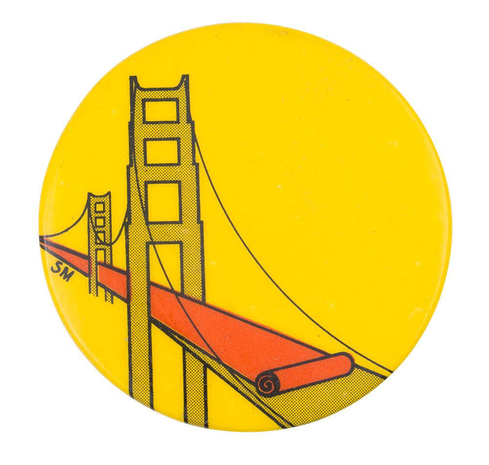 Golden Gate Bridge Busy Beaver Button Museum Diagram Of The