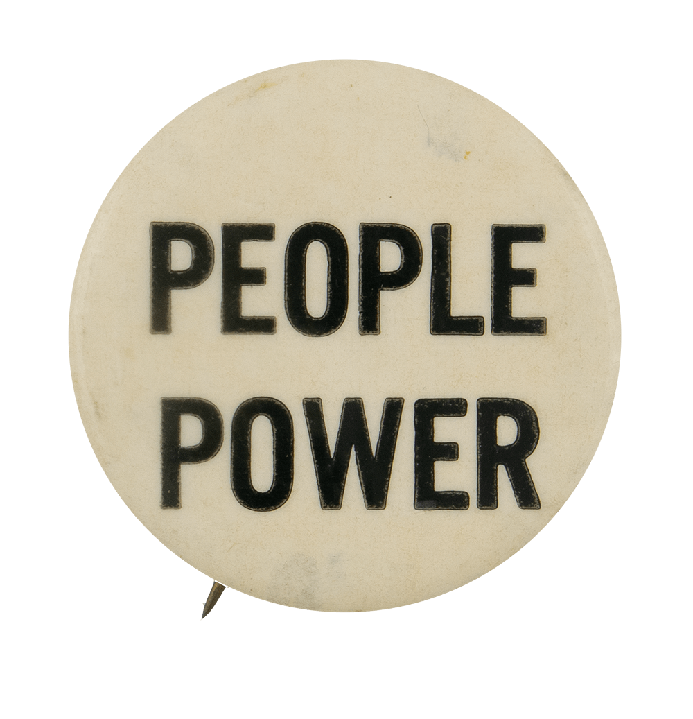 People Power Cause Busy Beaver Button Museum