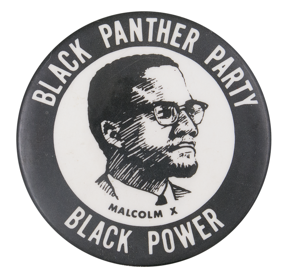 Black Panther Party Malcolm X Busy Beaver Button Museum
