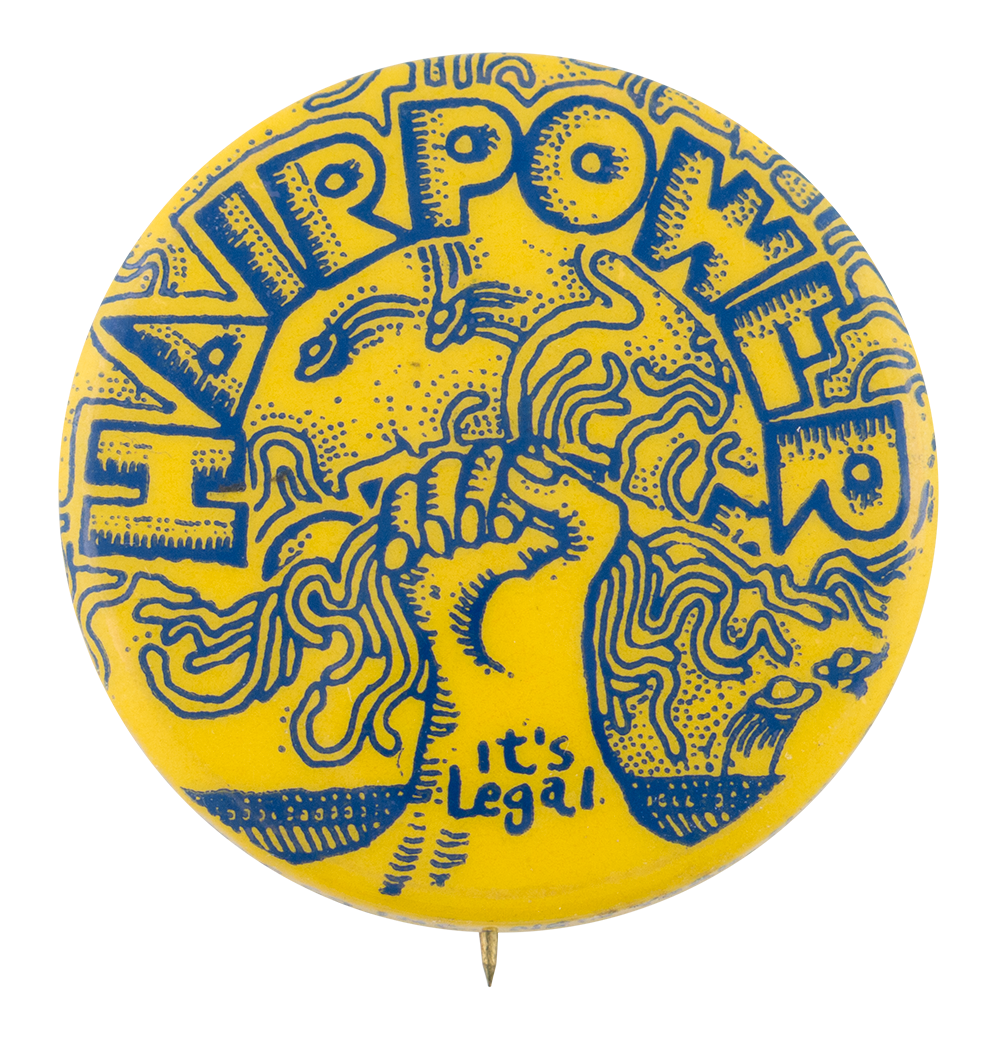 Hairpower Advertising Button Museum