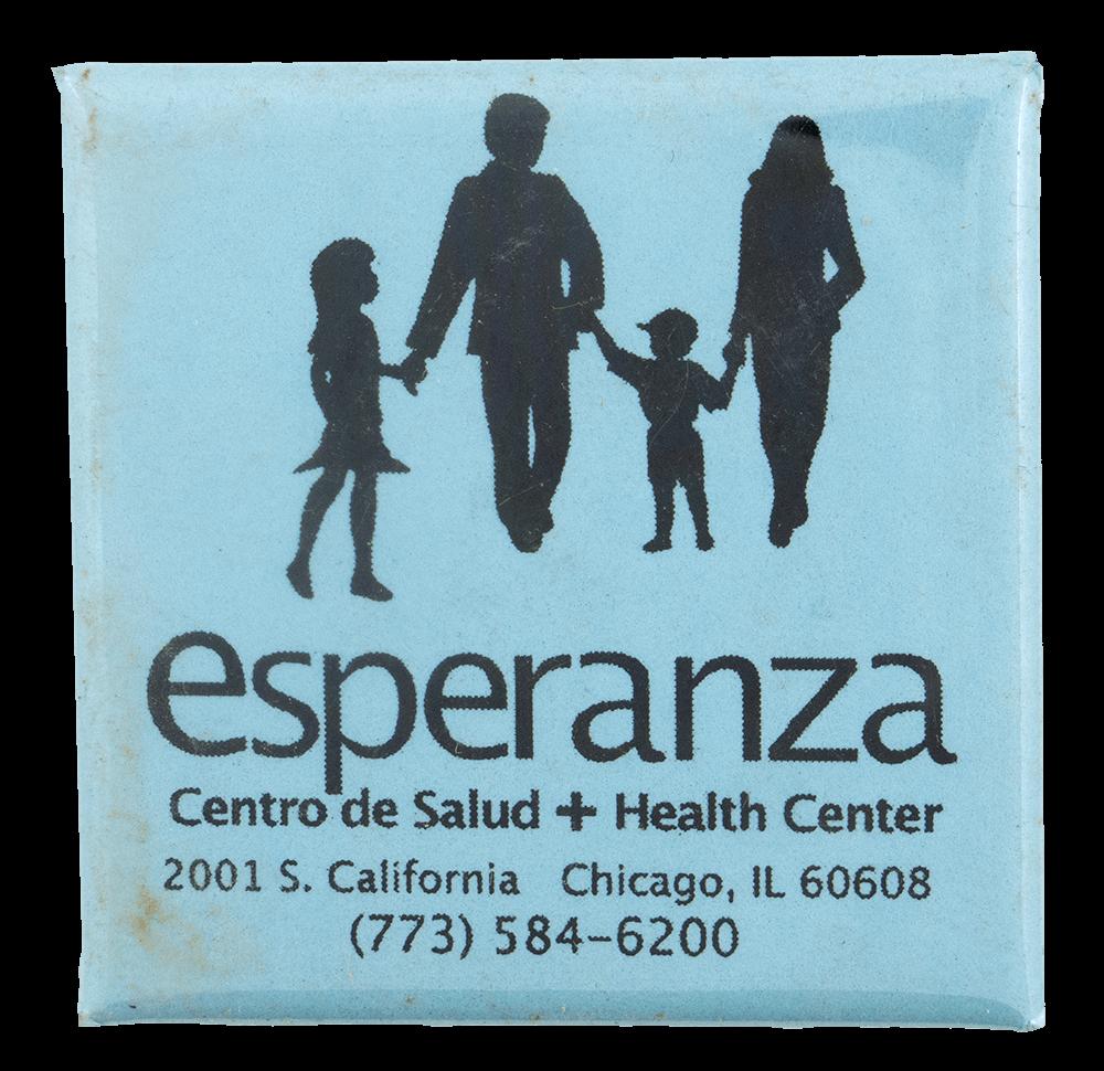 Esperanza Health Center Advertising Busy Beaver Button Museum