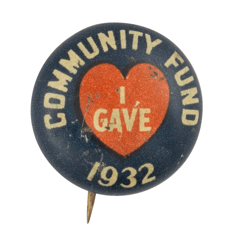 Community Fund 1932 Club Button Museum