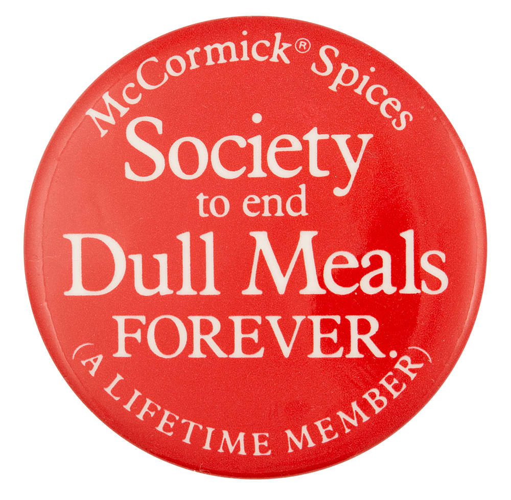 McCormick Spices Society | Busy Beaver Button Museum