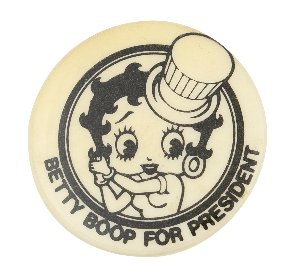 The Betty Boop Pin  Betty Boop For President Pin