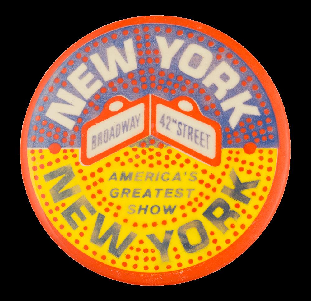 New York New York Entertainment Button Museum