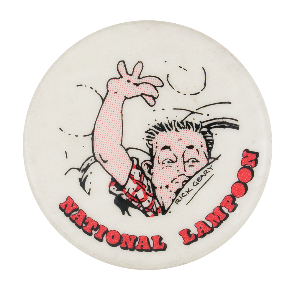Rick Geary National Lampoon Entertainment Busy Beaver Button Museum