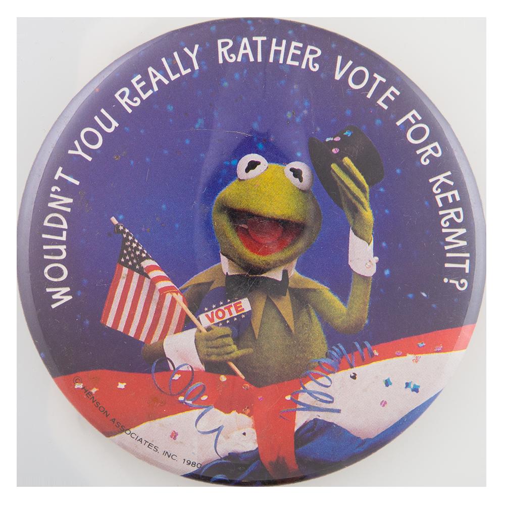 Vote For Kermit Entertainment Busy Beaver Button Museum