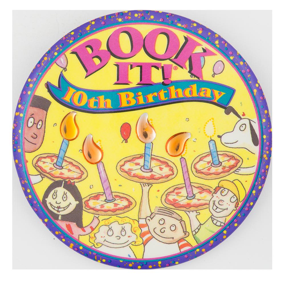 Book It 10th Birthday button