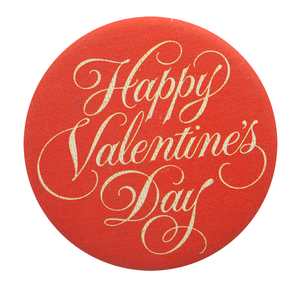 Happy Valentines Day Busy Beaver Button Museum
