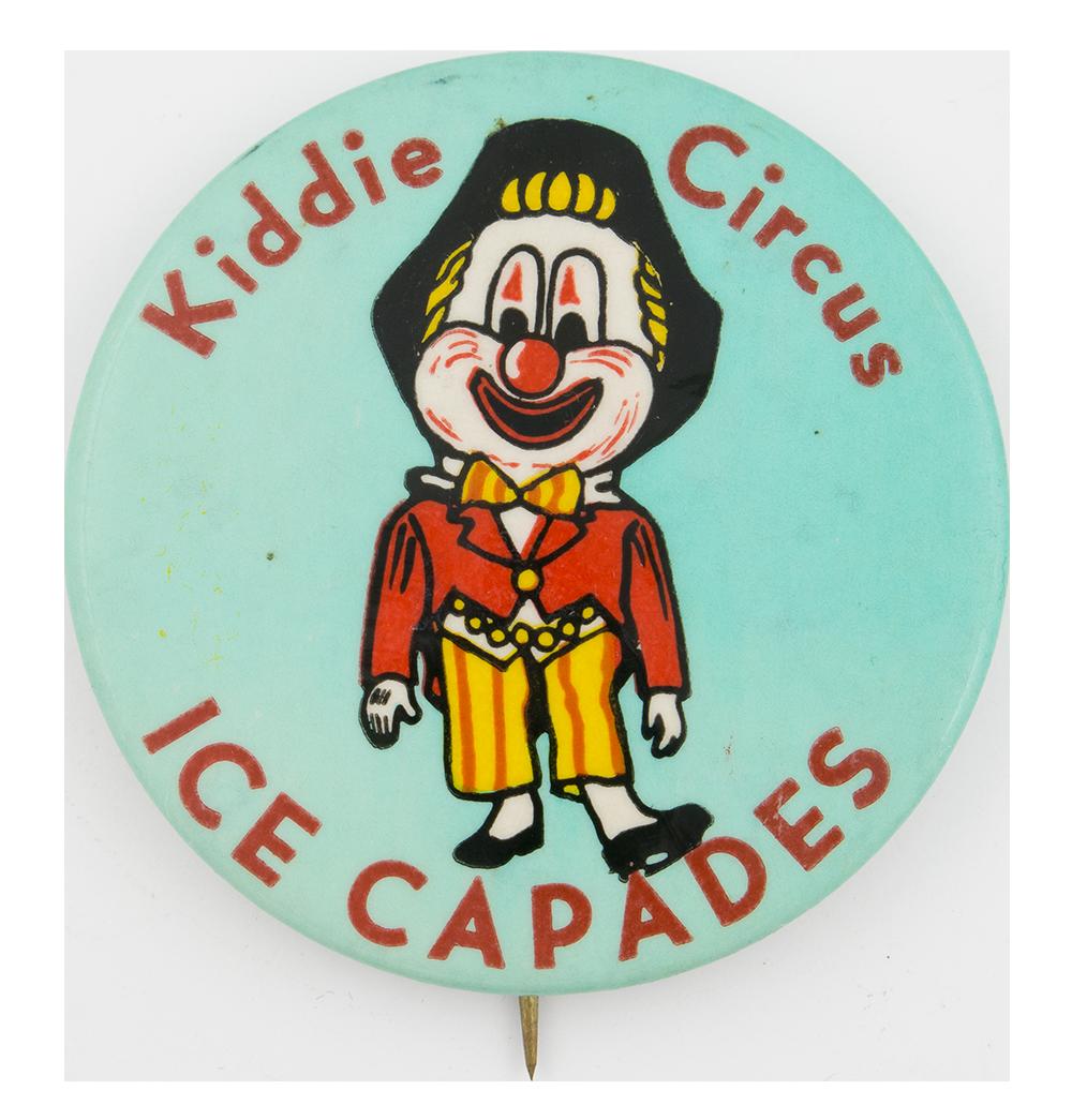 Kiddie Circus Ice Capades Event Button Museum