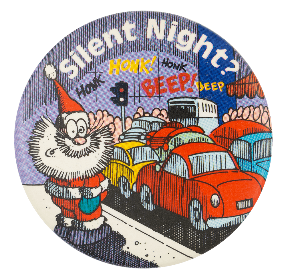 Silent Night Honk Event Button Museum