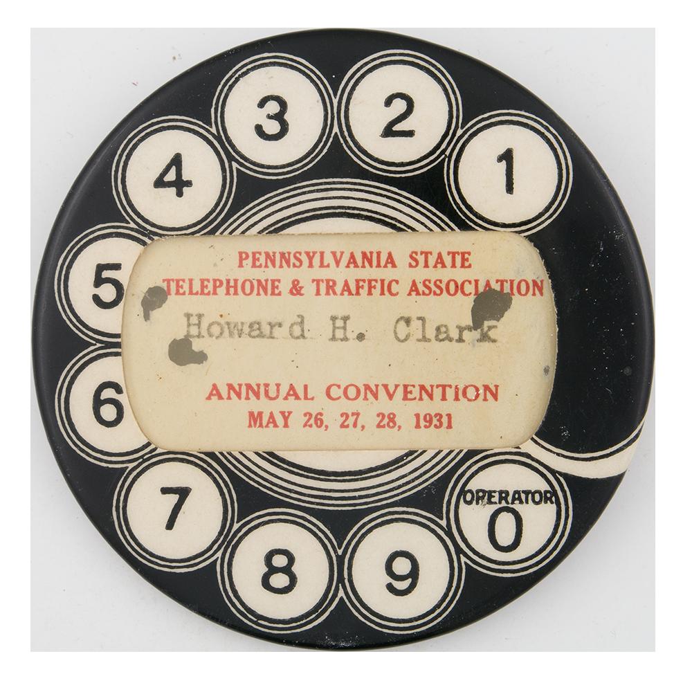 Pennsylvania State Telephone & Traffic Association Innovative Button Museum
