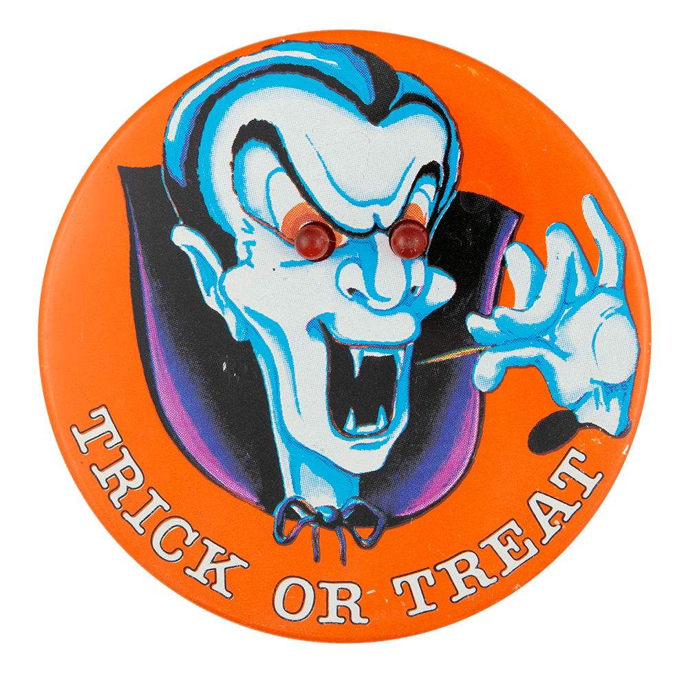 Trick Or Treat Dracula Innovative Button Museum