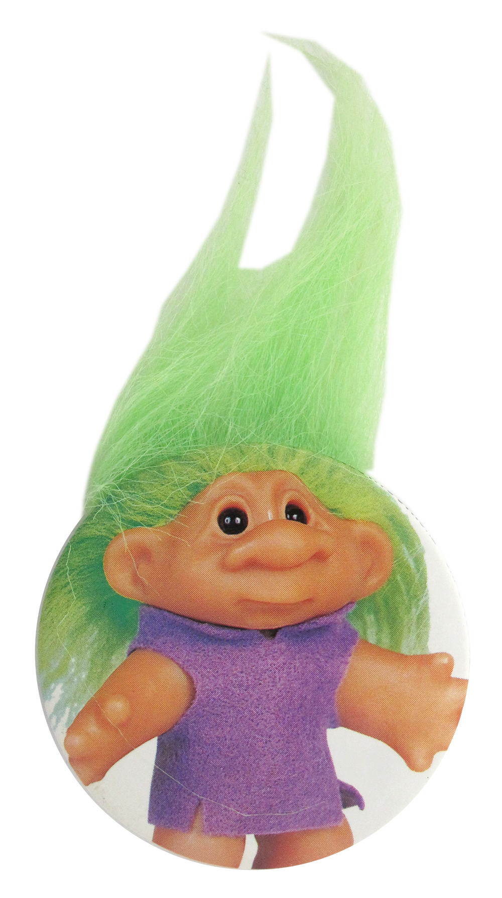 troll doll green busy beaver button museum