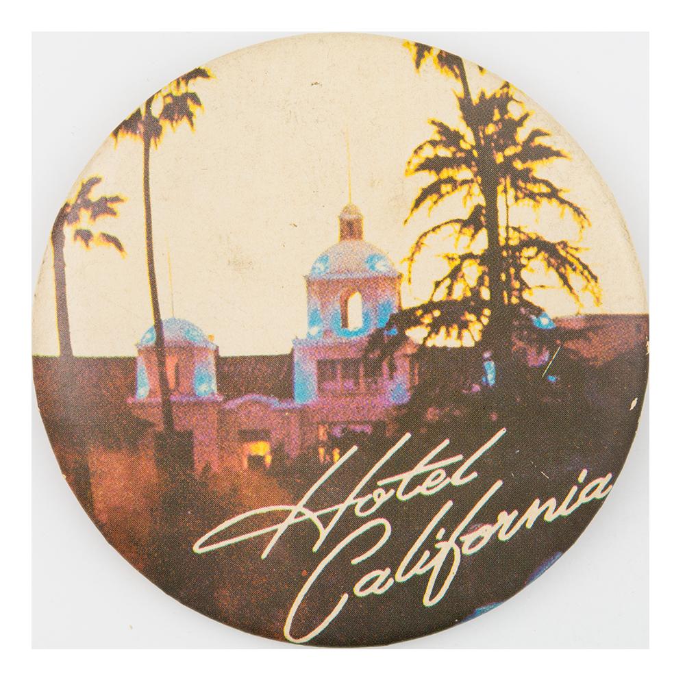Eagles hotel california busy beaver button museum for Hotel california