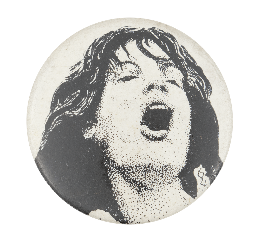 Mick Jagger Illustration Music Button Museum