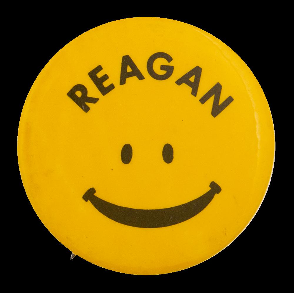 Reagan Smiley Political Busy Beaver Button Museum