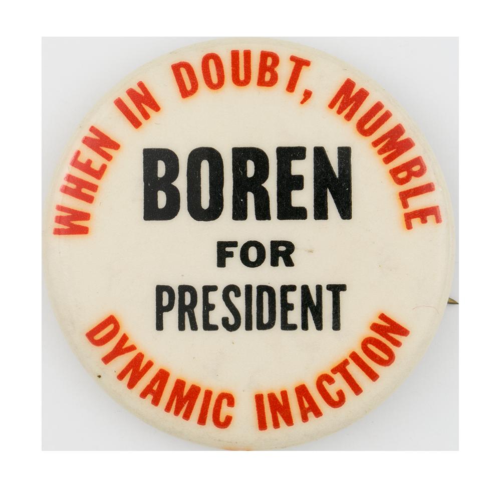 Boren for President Political Button Museum
