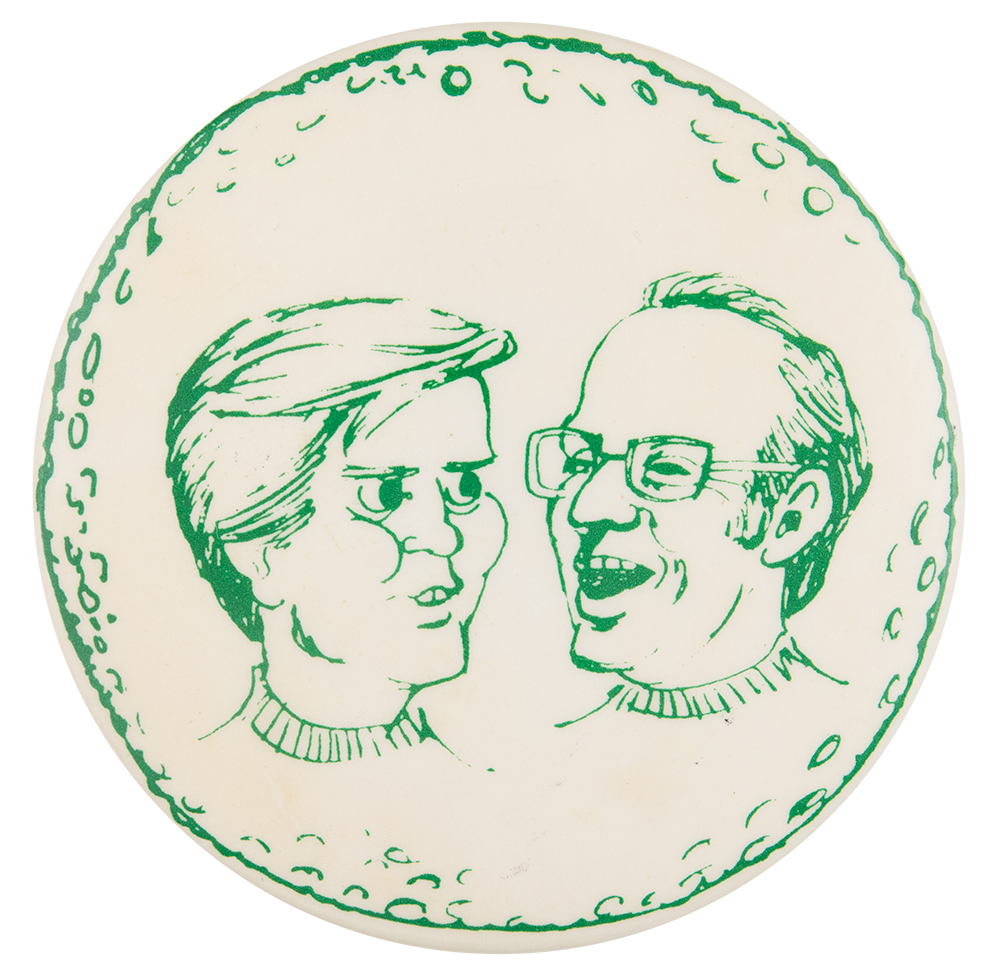Governor Dan Walker and Mayor Bob McGaw Political Button Museum