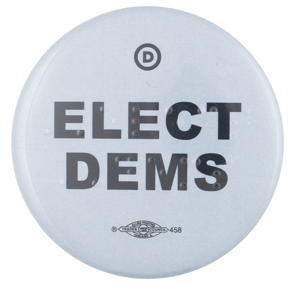 Elect Dems Political Busy Beaver Button Museum